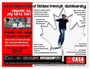 Freestyle Skateboarding World Championships 2007 - Canada