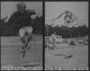 european cup freestyle skateboard 1982 shane rouse