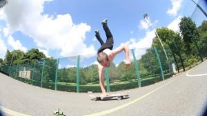 John Hanson - One handed handstand flip