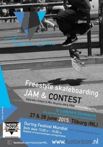 Fusion Jam Freestyle Skateboard Contest 2015