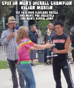 Kilian Martin - Overall Champion. Freestyle Skateboarding Glendale 2008